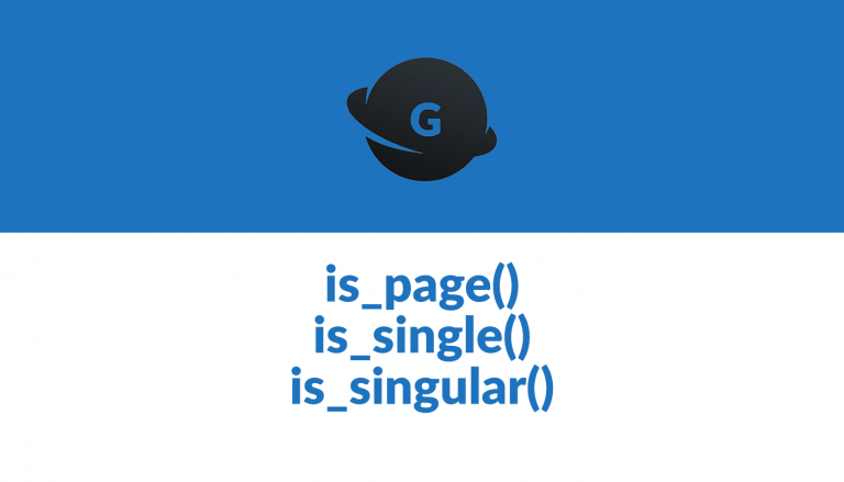 is_page is_single is_singular