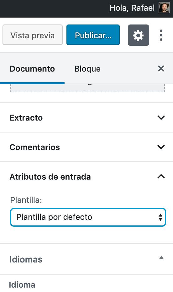 modificar atributos de pagina en wordpress